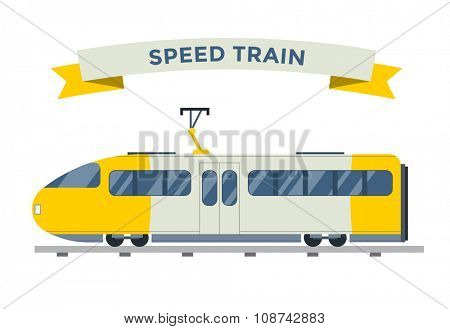 Passenger and transportation trains vector collection. Trains vector illustration on white background. Trains silhouette isolated on white. Passenger and cargo trains vector on railway. Travel train
