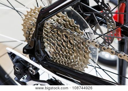 Bicycle Gear Cassette Of The Mountain Bike