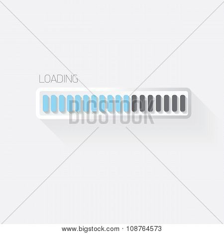 vector flat white modern design progress bar