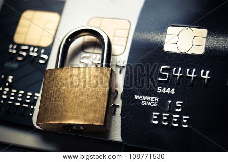 Credit card data security concept