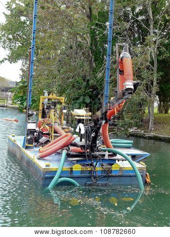 Dredging Equipment In River
