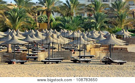 sandy beach in Marsa Alam,