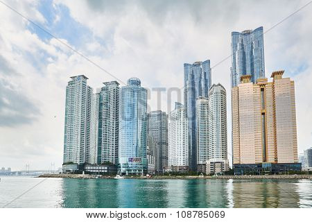 Busan, Korea - September 19, 2015: Buildings In Marine City
