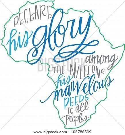 Religious African Print