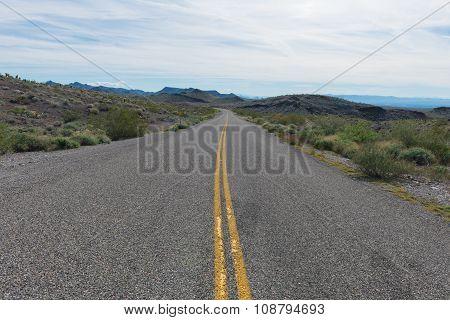Old Route 66 through the western Arizona desert poster