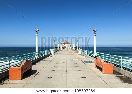 Beautiful Pier At Hermosa Beach