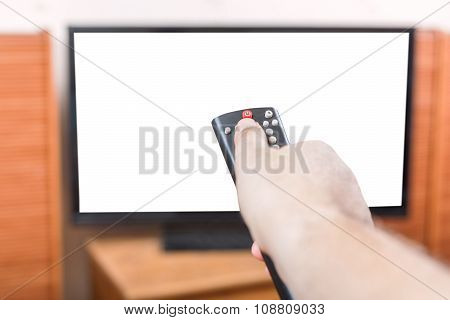 Turn Off Tv With Cut Out Screen By Remote Control