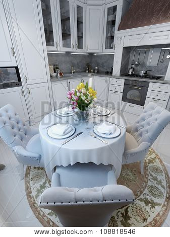 Kitchen In Neoclassical Style