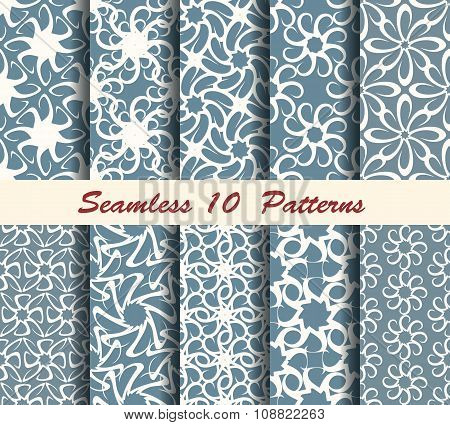 Ten Abstract Seamless Patterns