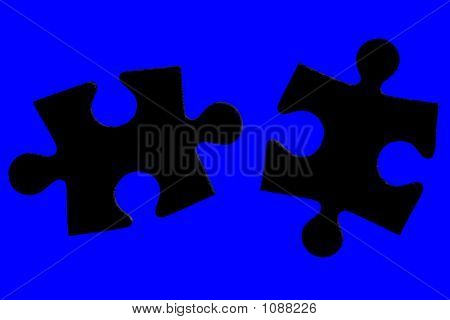 Jigsaw Pieces, With Clipping Path