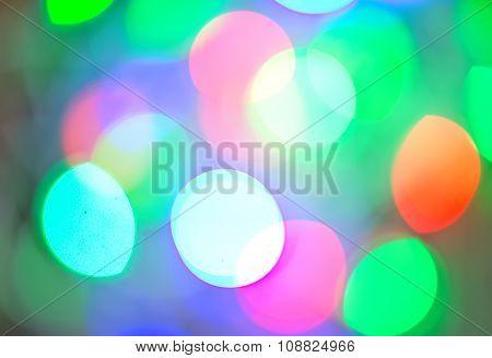 Background Of Defocussed Color Lights With Sparkles
