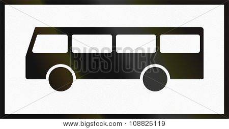 Norwegian Supplementary Road Sign - Sign Applies To Buses