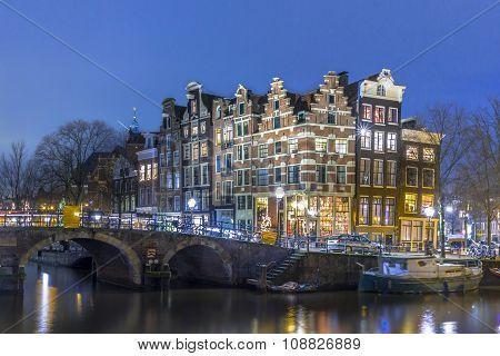 Nightscape City Centre Amsterdam