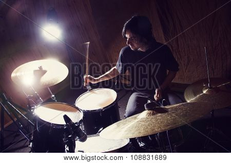 Rock and roll drummer