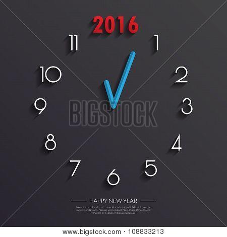 2016 Clock Face Background.vector/illustration.
