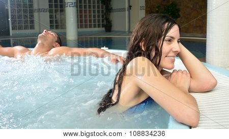 Couple In Love In Jacuzzi