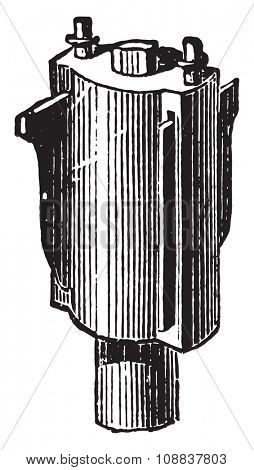 Molding tool, vintage engraved illustration. Industrial encyclopedia E.-O. Lami - 1875.