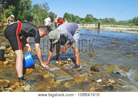 A Group Of French Gold Prospectors