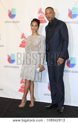 LAS VEGAS - NOV 19:  Jada Pinkett Smith, Will Smith at the 16th Latin GRAMMY Awards at the MGM Grand Garden Arena on November 19, 2015 in Las Vegas, NV