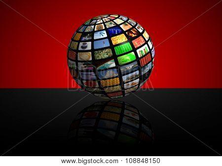 tv news media background