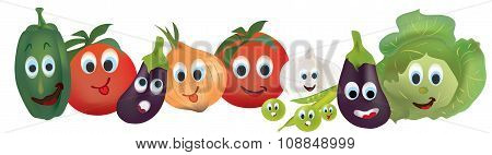 Illustration Collection of Animated Vegetables