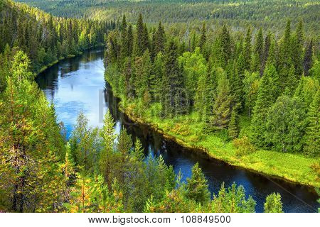 Oulanka River In Late Summer.