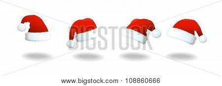 Santa Clause Hat Set
