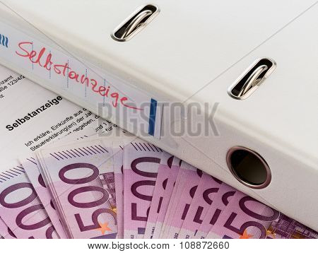 symbolic photo for a voluntary disclosure for evasion of taxes at the tax office in austria