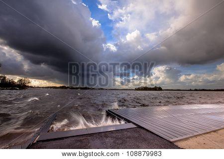 Storm Over Lake