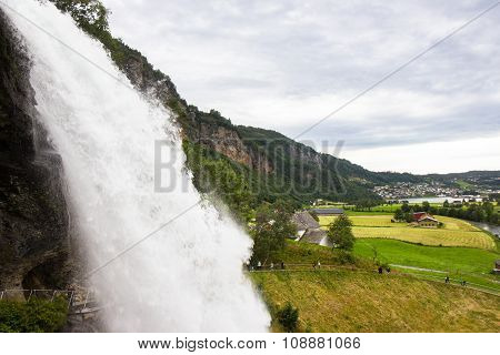 Steinsdalsfossen - one of the gorgeous waterfalls in Norway poster