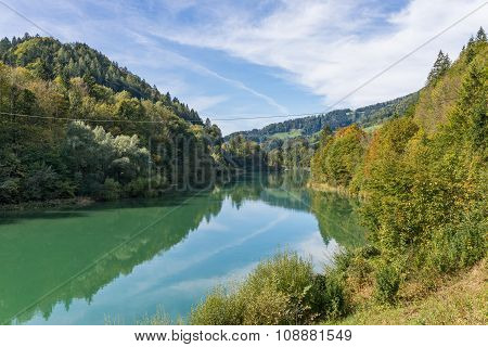 The Enns river in Upper Austria