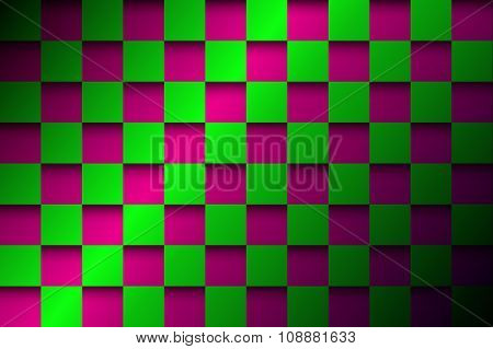 Abstract background pink and green squares
