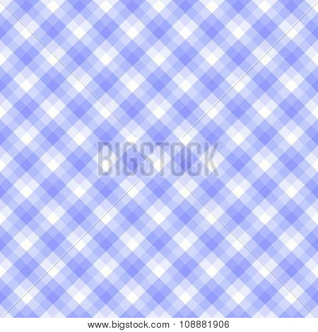 Checkered seamless pattern in hues of blue and white