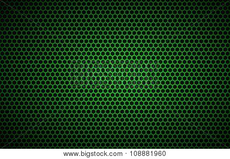 Geometric polygons background abstract green metallic wallpaper