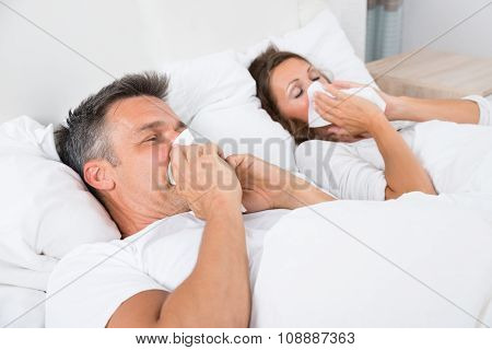 Couple Suffering From Cold