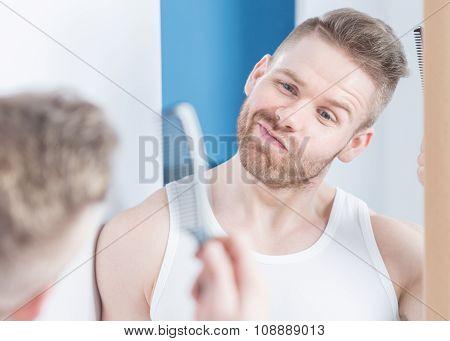 Metrosexual Guy In The Bathroom