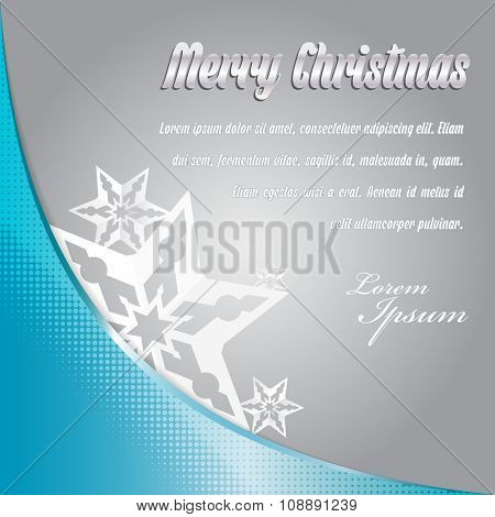 Vector abstract simple background for Merry christmas card or greeting with stars