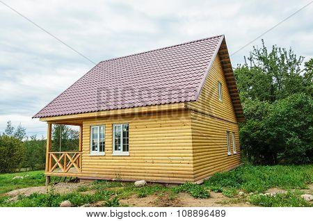 New Small Wooden Country House
