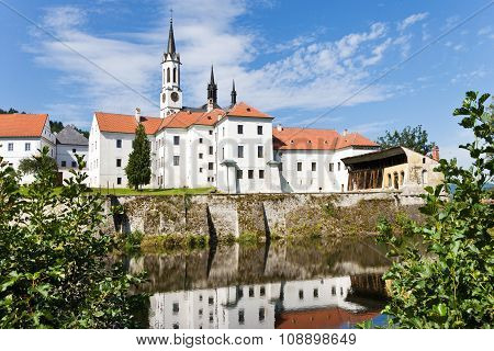 CZECH REPUBLIC, VYSSI BROD, 2014: cistercian monastery Vyssi Brod, South Bohemia, Czech Republic, Europe