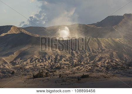 Sunrise at Mount Bromo volcano East Java, Indonesia.