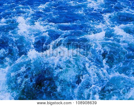 Powerful Stream Of Clean Water Turbulent