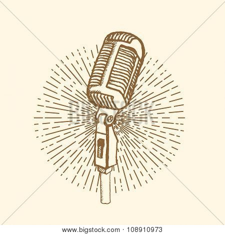 Microphone Vintage style