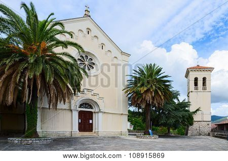 The Church of St. Ieronim and the bell tower Herceg Novi Montenegro poster