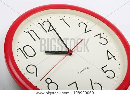 Close up of clock face