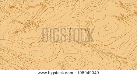 Abstract vector topographic map in brown colors
