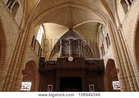 Pipe Organ In The Interior Of The Basilica Sacre Coeur Cathedral In Paris 1