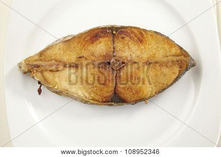 deep fried slice of the seer fish