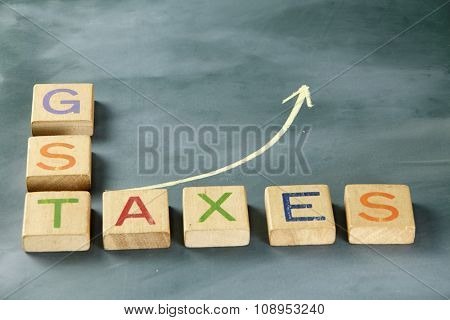 charts shows the growth after the goods and services tax