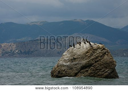 View Towards Alchak Cape From Foot Of Meganom Cape, Crimea.