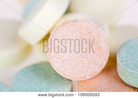 Close Up Of Multicolored Pills